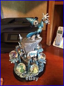 Disney Mickey Mouse Fantasia 2000 The Sorcerers Apprentice Figurine Snowglobes