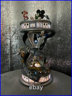 Disney Mickey Mouse & Friends Filming Hourglass Music Snowglobe
