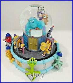 Disney Monster's Inc Musical Monstropolis Snow Globe Snowglobe Mike Sully & Boo