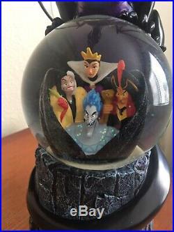 Disney Multi Villains Dragon snow globe- musical