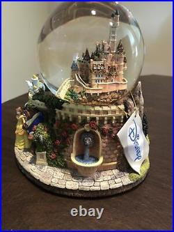 Disney Musical snow globe Beauty and the Beast Plays