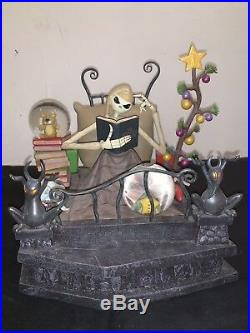 Disney Nightmare Before Christmas Jack In Bed Snow Globe with lights & music