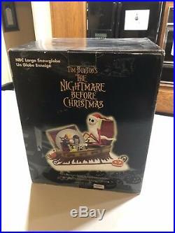 Disney Nightmare Before Christmas SANTA JACK SLEIGH Snow Globe Disney Store