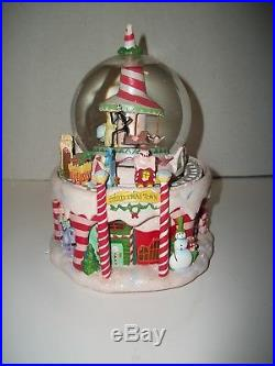 Disney Nightmare Before Christmas Town Snow Globe Light Up Sound Rotating