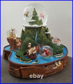 Disney Peter Pan 50th Anniversary Musical Snowglobe Collectible Snow Globe RARE