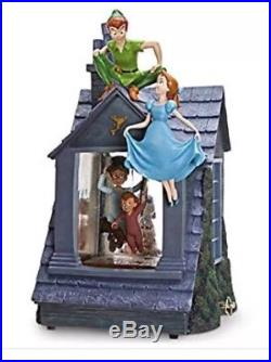 Disney Peter Pan Snow Globe You Can Fly Darling House-Lights & blower! BRAND NEW