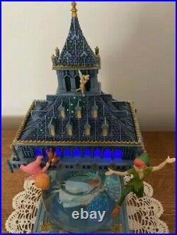 Disney Peter Pan with Big Ben Musical Snow Globe with Lights