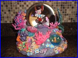 Disney Pinocchio Looking For Monstro Under The Sea Brahms Waltz Snow Globe Rare
