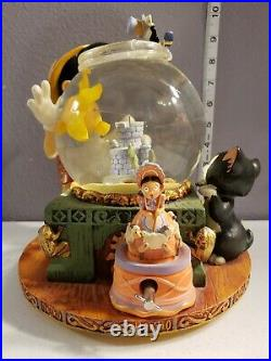 Disney Pinocchio Snowglobe Herbert Victor Toyland with Figaro & Fishbowl Rare