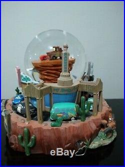 Disney Pixar Cars Radiator Springs Flo's Cafe Musical Snowglobe Waterglobe VHTF
