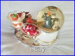 Disney Pixar Ratatouille Rare Dessert Sugar Snow Globe Remy Emile Bon Appetit