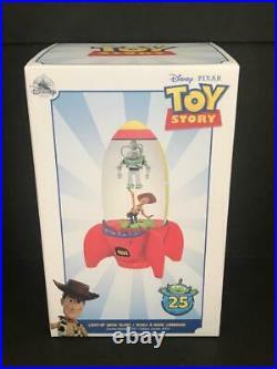 Disney Pixar Toy Story Buzz Woody Light Up 25th Anniv Limited Ed Claw Snow Globe