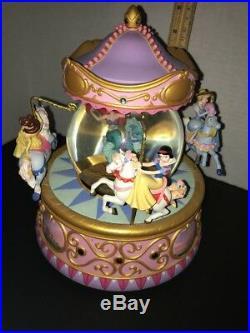 Disney Princess Carousel Musical Snow Globe