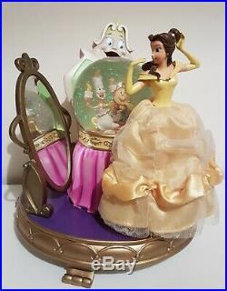 Disney Rare Beauty And The Beast Snow Globe