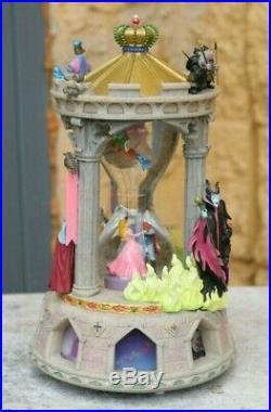 Disney Sleeping Beauty Princess Aurora Light-Up Hourglass Snow globe BROKEN