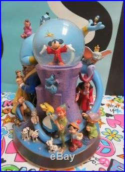Disney Snow Globe Genie, Fantasia, Peter Pan, Pinocchio, Dumbo, Alice, Bambi