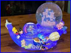 Disney Snow Globe Multi Characters Musical Lights Up