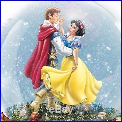 Disney Snow White And The Seven Dwarfs Musical Glitter Globe NEW Bradford Prince