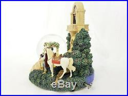Disney Snow White Evil Queen Prince Florian Tower Snow Globe with LE500 Pin Rare