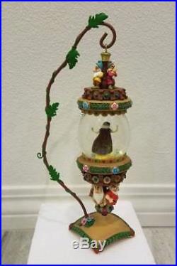 Disney Snow White & Seven Dwarfs Hanging Ornament Snowglobe Water Snow Globe New