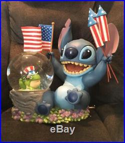 Disney Stitch Patriotic Snow Globe 1 Of 100 Rare