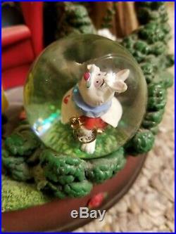 Disney Store Alice In Wonderland Snow Globe Mad Hatter's Tea Party Unbirthday