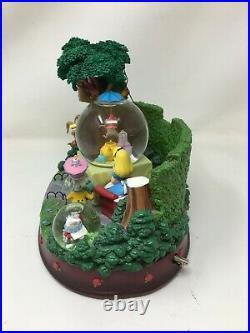 Disney Store Alice In Wonderland Tea Party Snowglobe With Music Box, READ