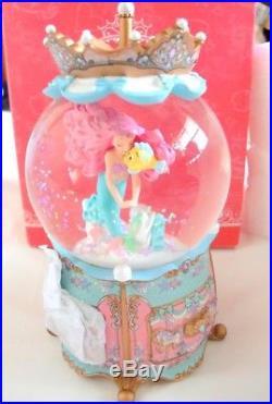 Disney Store Japan Little Mermaid Ariel Snow Globe Accessory Case Dome Figure