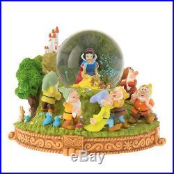 Disney Store Japan Snow White & the Seven Dwarfs Snow globe Snow dome FOLK WOOD