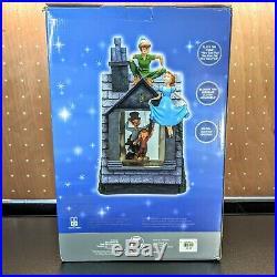 Disney Store Peter Pan Darling House Musical Snowglobe Rare Blower Lights