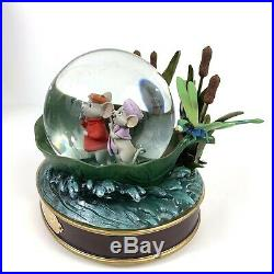 Disney Store The Rescuers Snow Globe Musical 30th Anniversary Rare Boxed Water