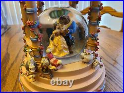 Disney Store's Beauty and the Beast Snow Globe RARE