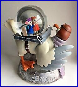 Disney THE RESCUERS Snowglobe BERNARD and BIANCA Battery-operated Snow Blower
