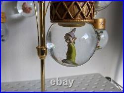 Disney Tabletop Mini Snow Globe Christmas Tree Mickey Mouse Tinkerbell Holiday