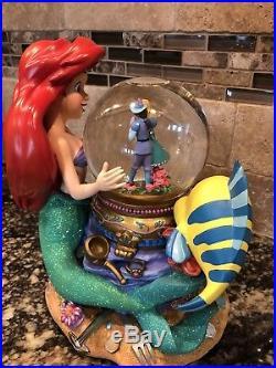 Disney The Little Mermaid (Ariel) Under The Sea Musical Snow Globe Rare