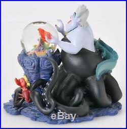 Disney The Little Mermaid Ursula Sculpture with Ariel Mini Snowglobe 17325 w Box