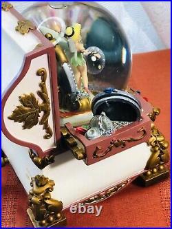 Disney TinkerBell Hidden Treasure Chest Snow Globe with Musical Jewelry Box