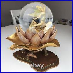 Disney Tinker Bell 50th Anniversary Snow Globe Water Lily Gold Glitter