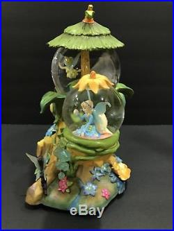 Disney Tinker Bell Fairy Friends Snowglobe 3 Globes Musical You Can Fly Rotating