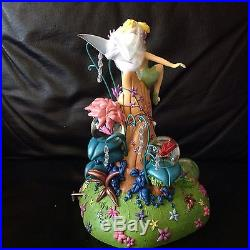 Disney Tinkerbell & FIREFLY IN THE SPRINGTIME Musical Snowglobe