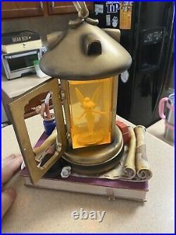 Disney Tinkerbell Lantern Musical Snow Globe plays You can fly Peter Pan, EUC