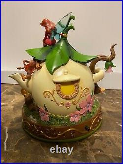 Disney Tinkerbell & The Lost Treasure Fairies Teapot Snowglobe Rare Read