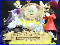 Disney Villains Fortune Teller Musical Snowglobe Grim Grinning Ghosts RARE