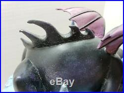 Disney Villains Maleficent Hourglass Snow Globe Lights & Sound, Read Description