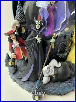 Disney Villains Musical Snowglobe Grim Grinning Ghosts Maleficent Chernabog