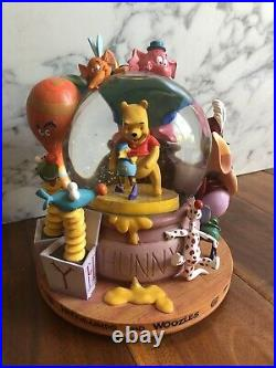 Disney Winnie The Pooh Snowglobe with Music Heffalumps And Woozles Shepard Milne