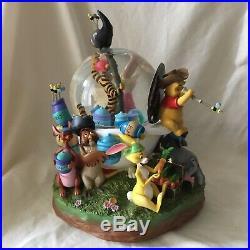 Disney Winnie the Pooh PIRATES Musical Motion Blower Figurines SnowGlobe-MIB