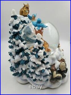 Disney Winter Bambi Musical Snow Globe Christmas Snowglobe