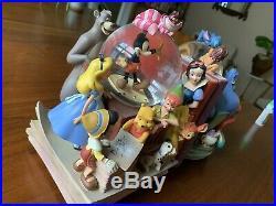 Disney Wonderful World of Disney Through the Years Book End Snow Globe Set