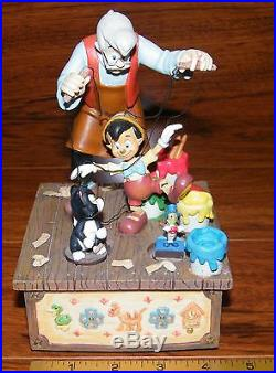 Disney's I've Got No Strings Musical Movement Box Pinocchio & Geppetto Paint